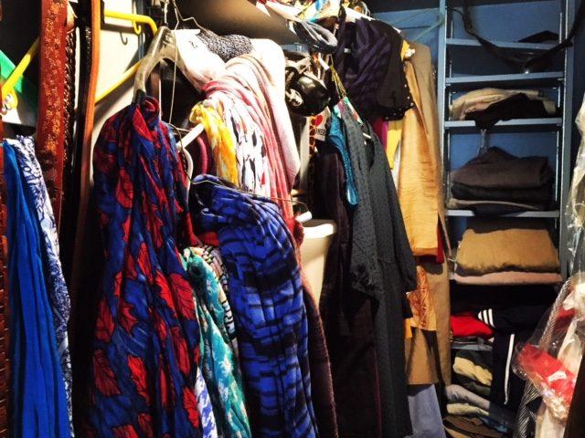 Before organizing closet