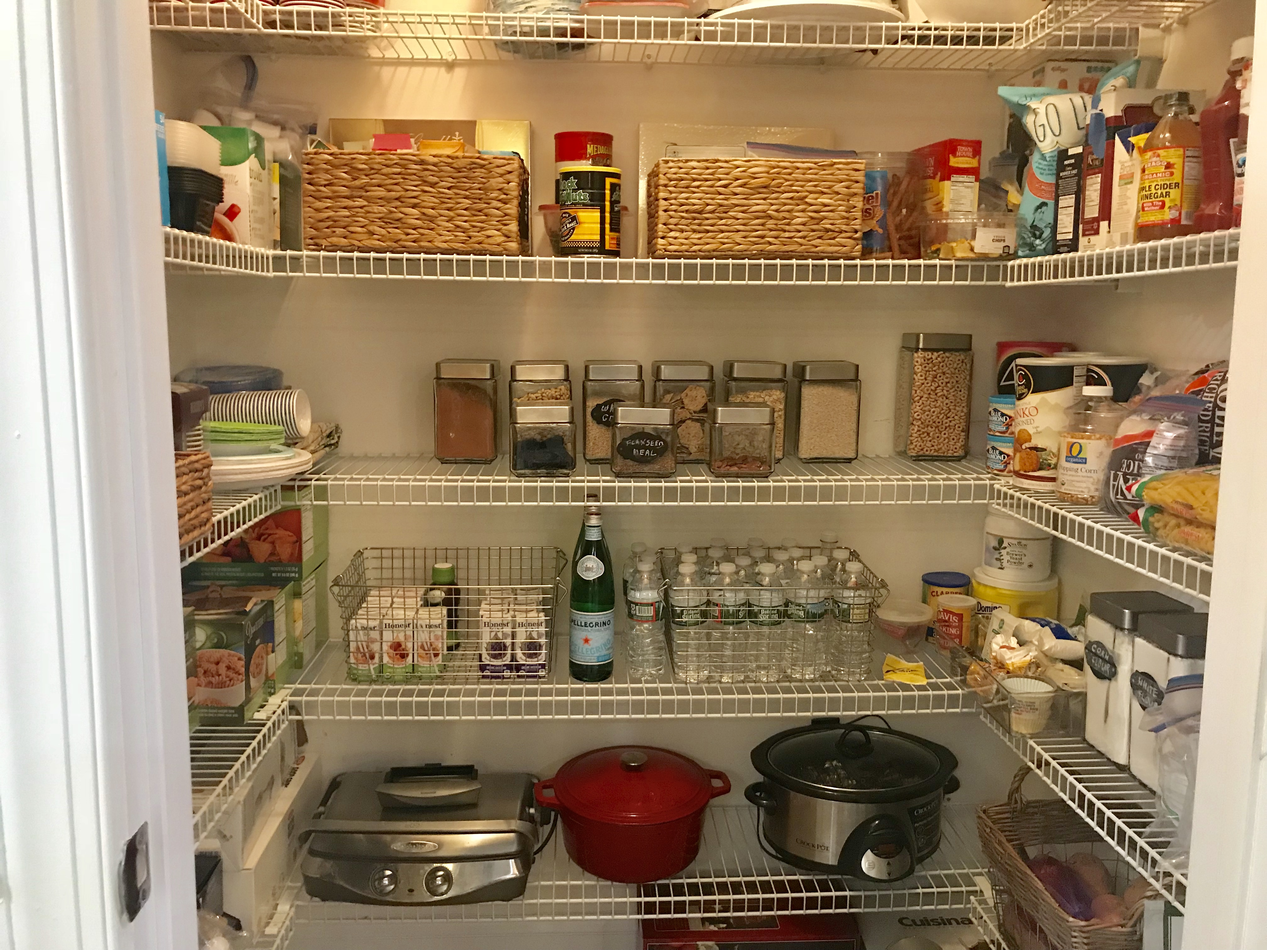 after organized pantry